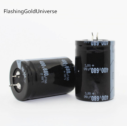 20PCS--2PCS Free Shipping  680UF 400V 400V680UF  Electrolytic Capacitor 35x50mm Best Quality