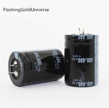 Бесплатная Доставка 2 шт. 680 мкФ 400 В 400 В 680 мкФ электролитический конденсатор 35×50 мм лучшее качество