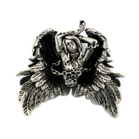 USA Located High Detail 925 Sterling Silver Andromeda Pendant Sexy Angel Biker Pendant TA82 JP 4PX