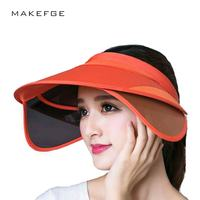 2017 New Female Summer Hat Empty Top Hat Sun Shade Retractable Sun Hat Riding Outdoor Sports