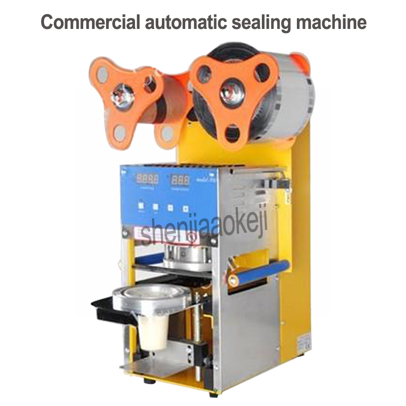 Commercial Milk-Tea Sealing Machine Stainless Steel Bubble Tea Sealing Machine Cup Sealer  automatic sealing machine 110v/220vCommercial Milk-Tea Sealing Machine Stainless Steel Bubble Tea Sealing Machine Cup Sealer  automatic sealing machine 110v/220v