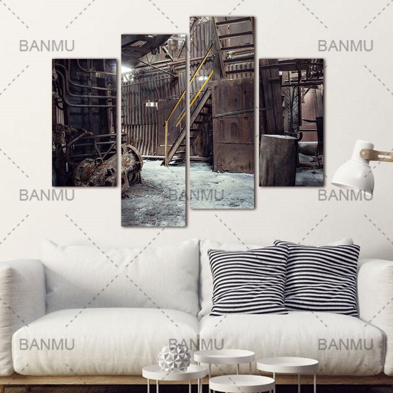 Decoratie voor woonkamer canvas schilderij muur 4 Panel Muur ...