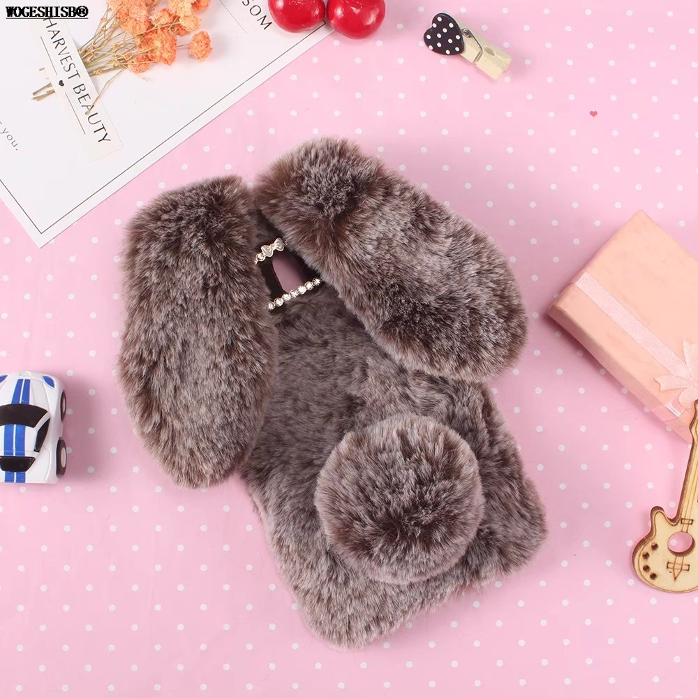 3D Rabbit Bunny Fur Toy Phone Case High Quality Artificial Cony Hair TPU Cover for Huawei Mate10 Mate10 Pro Mate 10 Pro Cases
