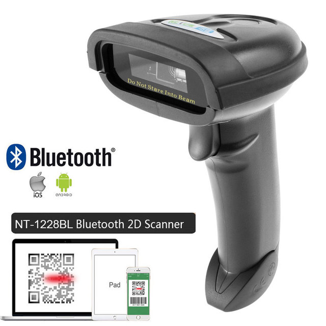 NT-1698W Handheld Wirelress Barcode Scanner AND NT-1228BL Bluetooth 1D/2D QR Bar Code Reader PDF417 for IOS Android IPAD NETUM 2