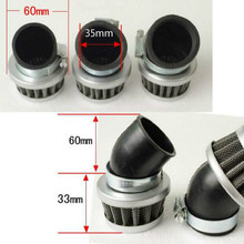 free shipping angle head motorcycle air filter waterproof Modified mushroom large flow for Inside diameter 35mm