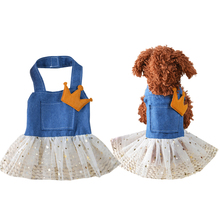 Spring/Summer Dog Dresses Sequins Mesh Princess Tutu Dress XS-XL Clothes For Dogs For Small Dogs Pet Supplies Wholesale noNV27
