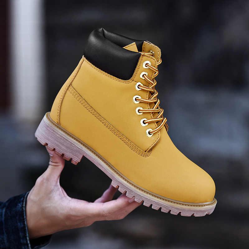 2018 Новая зимняя мужская обувь военные уличные сапоги из коровьей кожи  timber Land сапоги высокого качества d13a5094087