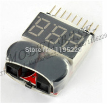 1-8S Lipo/Li-ion/Fe RC helicopter airplane boat etc Battery Voltage 2 IN1 Tester Low Voltage Buzzer Alarm