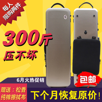4/4 Violin Case Carbon Fiber Strap Hard Case Gold Strong Yinfente 4 Bows violin parts