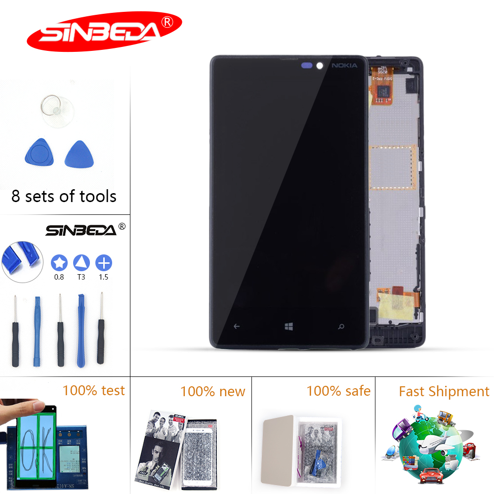 Sinbeda IPS 4.3'' LCD For NOKIA <font><b>Lumia</b></font> <font><b>820</b></font> Touch <font><b>Screen</b></font> Digitizer For NOKIA <font><b>Lumia</b></font> <font><b>820</b></font> Display RM-825 LCD Replacement with Frame image