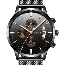 2018 Top Brand Luxury LIGE Men's Watches Men Quartz Watch Man Mesh Strap Date Clock Men Wristwatch Waterproof Relogio Masculino цена и фото