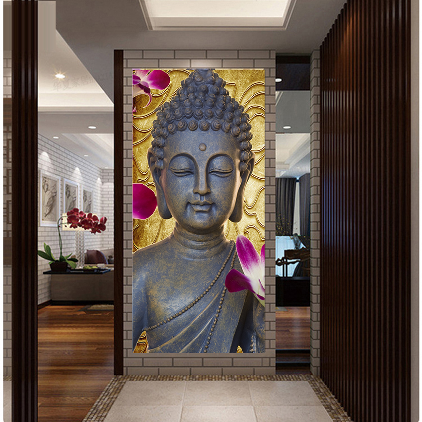New ! Wall Decor Abstract Printed Hotoke Buddhism Buddha Painting Picture Cuadros Decor Buda Canvas Art For Bed Room Framed Gift
