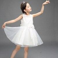 Summer Dress Girls Princess White Wedding Dress Costume Kids Infant Petals Child Bridesmaid Toddler Vestido Party