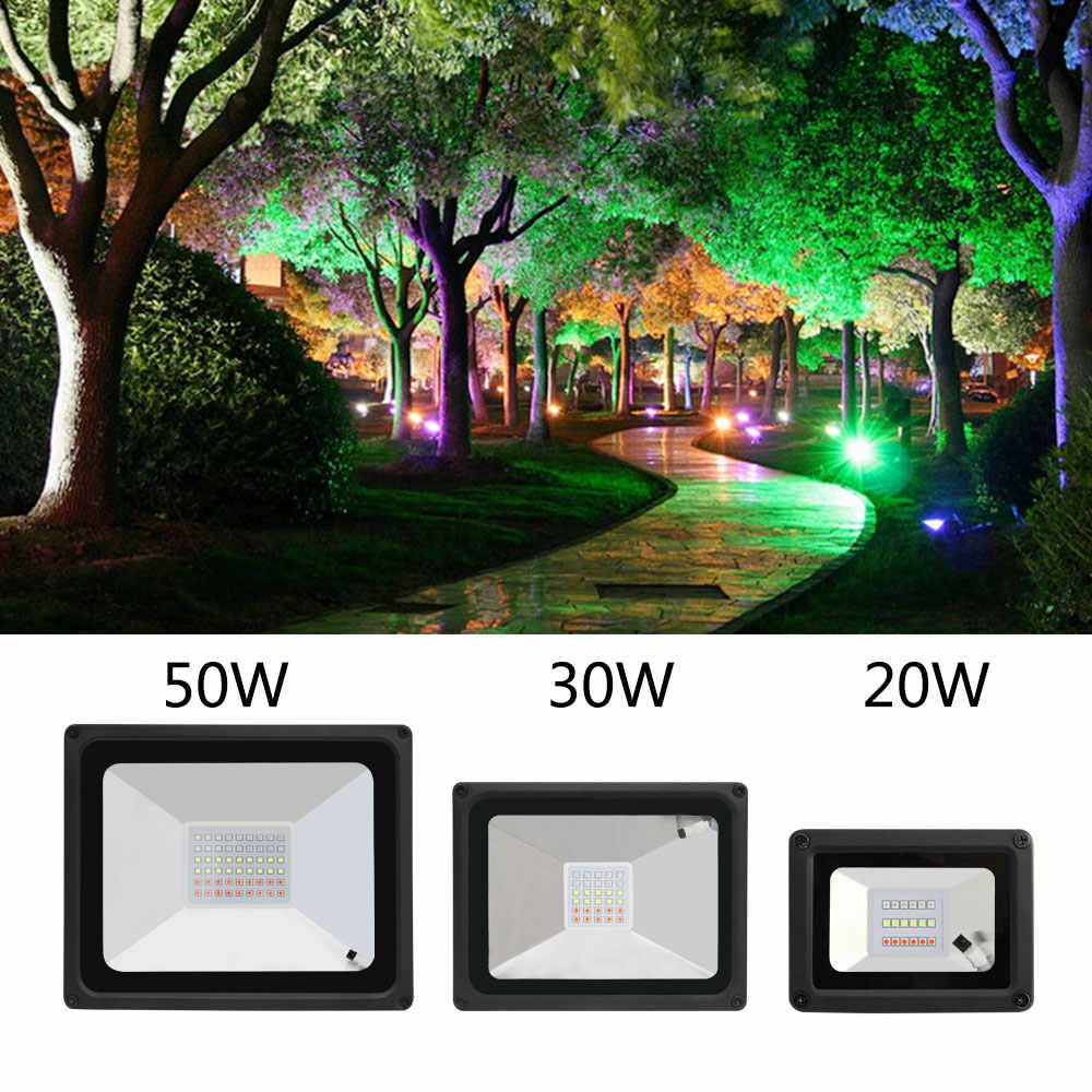 quality excellent led FloodLight 20W 30W LED Exterior Spotlight IP65 cob LED outdoor Light Reflector Spotlights waterproof RGB