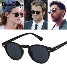 Vintage Round Lense Clear Frame sunglasses Gregory Peck Brand Designer men women Sunglass retro gafas oculos 2019