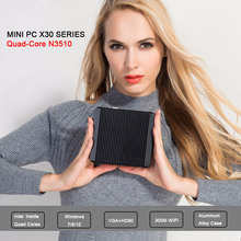 XCY безвентиляторный мини-ПК Intel Pentium N3510 четырехъядерный процессор 2.0 ГГц 4 г Оперативная память 256 г SSD бизнес Настольный компьютер Windows10 неттоп pc