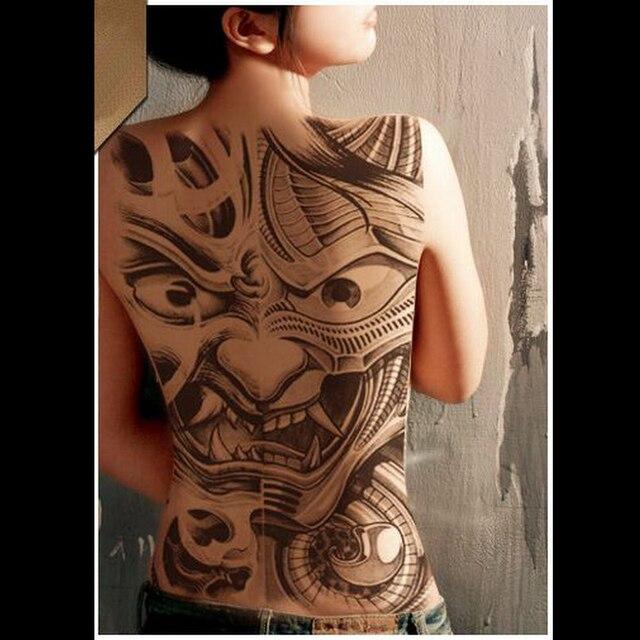 autocollant de tatouage temporaire imperméable à l'eau plein dos
