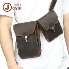 Joyir pachet talie autentic din piele omul multi-scop vintage casual curea sac bărbați pungi moale pur color Crazy pungi din piele de telefon