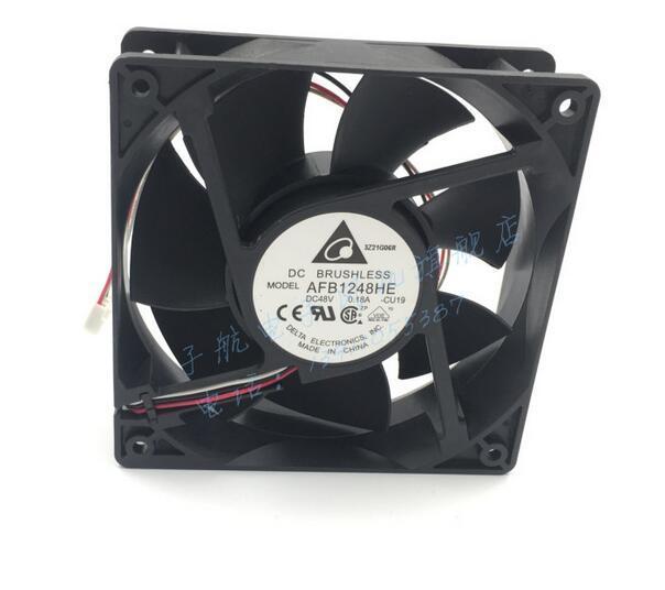Оригинальный Дельта AFB1248HE 12038 12 см 120x120x38 мм DC 48 В 0.18A 3-линия промышленного компьютер преобразования частоты Вентилятор охлаждения