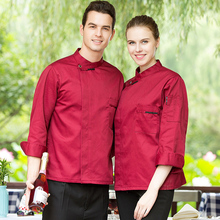 High Quality Autumn&Winter Long Sleeve Kitchen Chef Jacket Hotel Man and Woman Work Clothes Food Services Cooking Coat Coverall