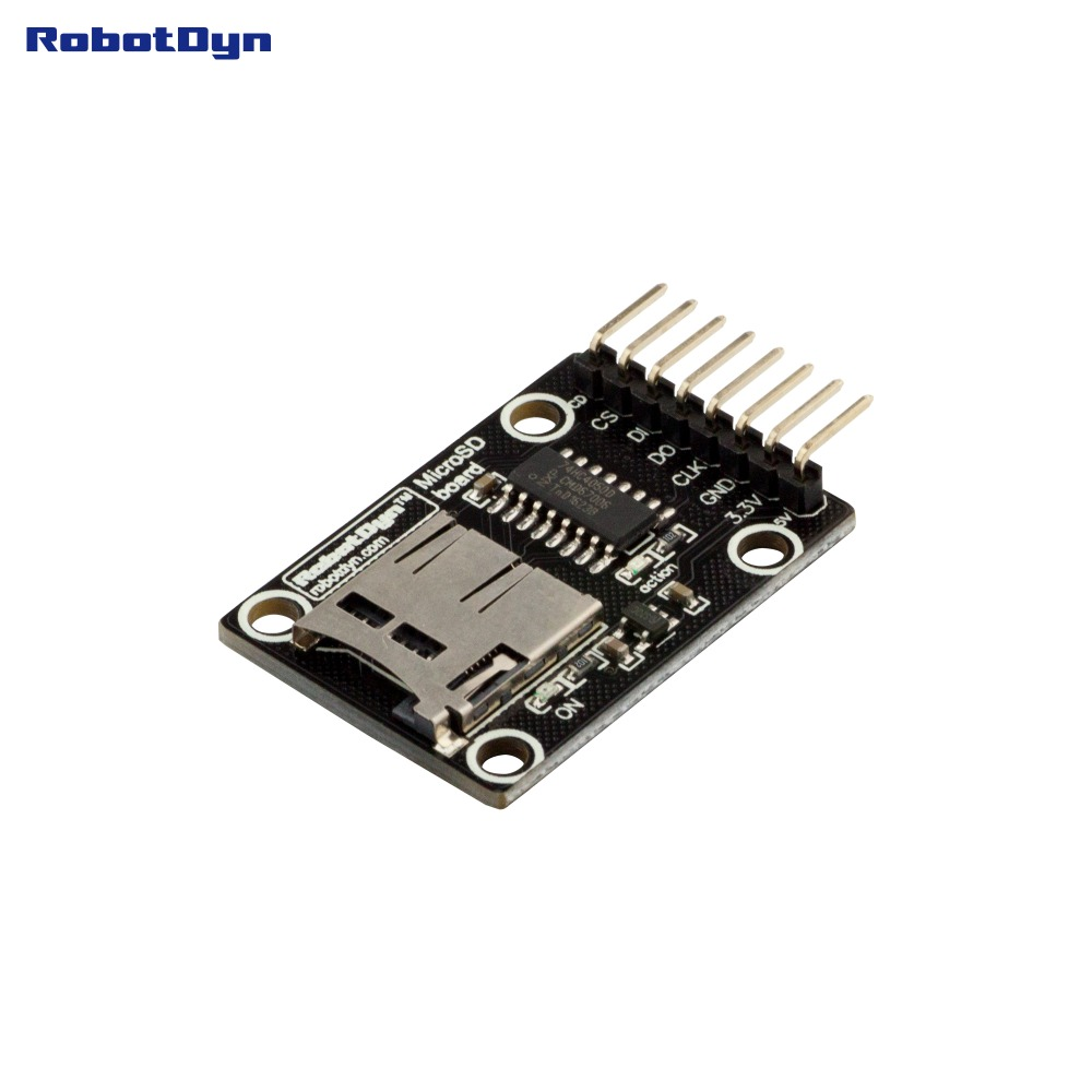 Micro SD Card High Speed Module. 3.3V/5V Universal, For 3.3V And 5V Logic. For MicroSD And MMC Card.