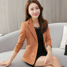 Autumn Korean Version Women Black Suit 2018 New Style Winter One Button And Xxxl Designs Female Fashion Temperament Slim Tops