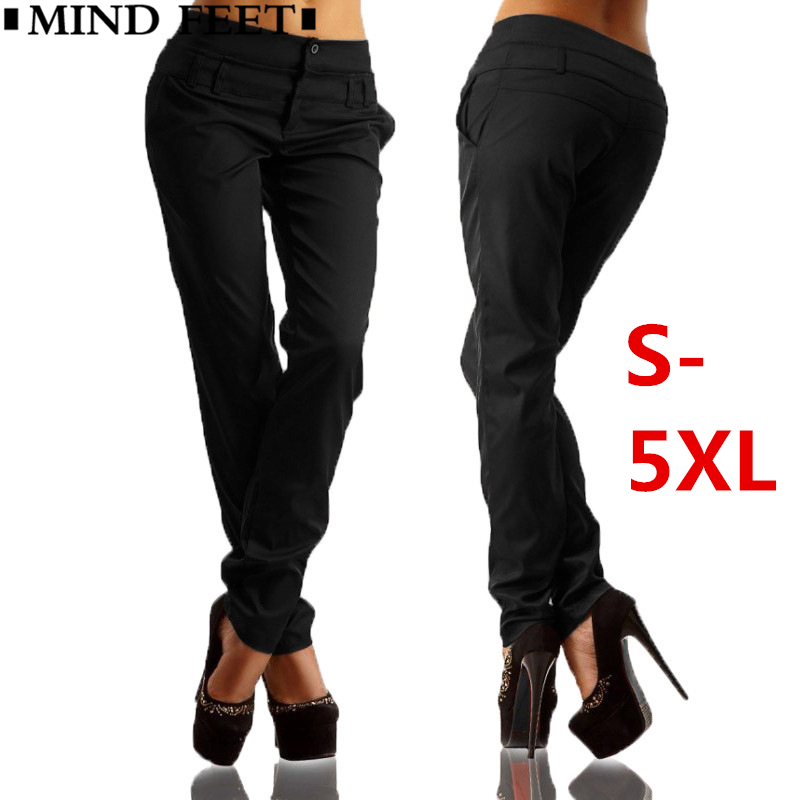 3a53ff8b06b Detail Feedback Questions about MIND FEET Plus Size High Waist Harem Women  Casual Pants Summer Thin Slim Straight Long Trousers Elastic Sexy Female  Pencil ...