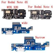 Port de chargement USB prise Dock connecteur Jack carte de Charge câble souple avec Microphone pour Xiaomi Redmi NOTE 4/Redmi NOTE 4X