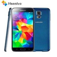 Оригинальный samsung Galaxy S5 мобильного телефона I9600 G900A G900V G900F G900T G900H gps WI FI 5,1 дюйма 16MP Камера gps S5 смартфон