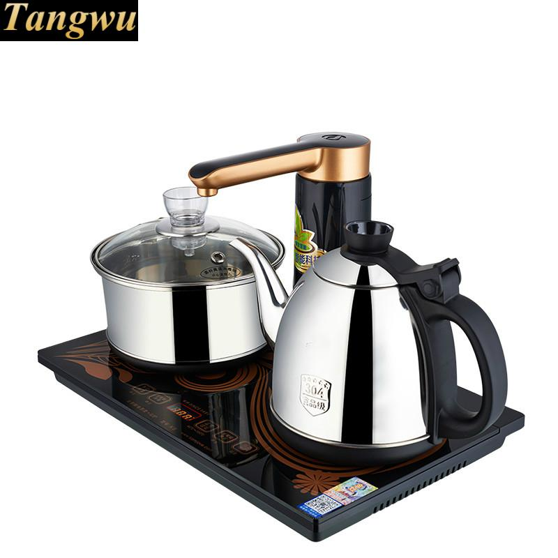 Full - automatic electric tea stove full intelligent rotary water set kettle brewing furnace free shipping automatic water supply electric kettle tea set pumping furnace
