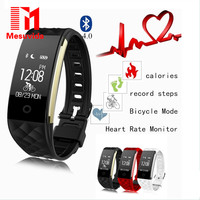 Mesuvida S2 Bracelet Bluetooth Smart Band Wristband Heart Rate Monitor GPS IP67 Waterproof Smartband Watch For Android IOS Phone