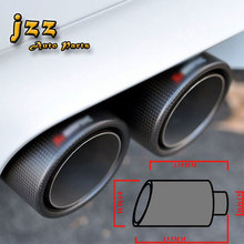 "63mm"" matte Carbon Fiber akrapovic car Exhaust Muffler Tip Automobile carbon Exhaust tip Pipe Tail for Audi a6"