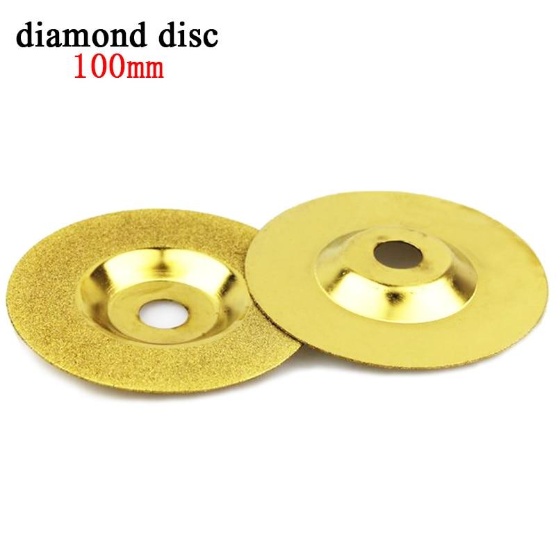 цена на 1pcs 100mm diamond disc dremel diamond tools Power Tools accessories diamond grinding wheel cup blade polishing for glass stone