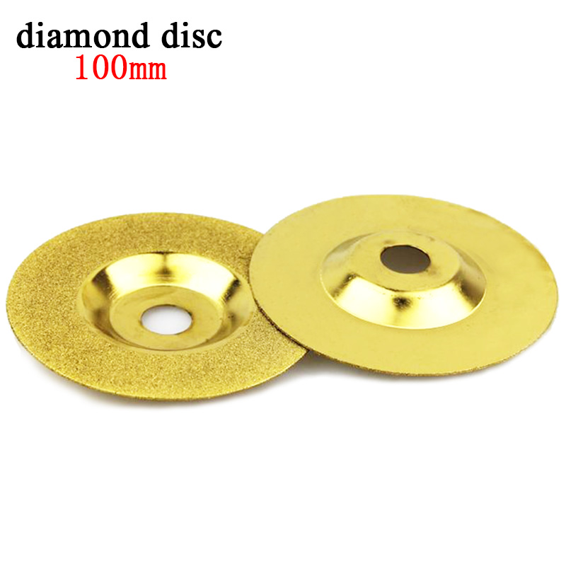 1pcs 100mm diamond disc dremel diamond tools Power Tools accessories diamond grinding wheel cup blade polishing for glass stone