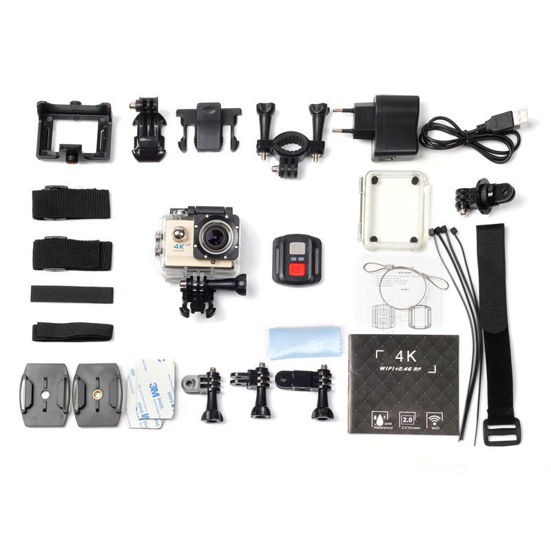WiFi 4K Ultra HD Action camera 2 inch Screen 12MP 30M Waterpoof Sport camera Video Recording Helmet Camera With Remote Control