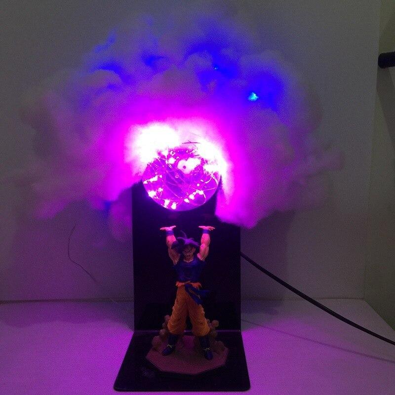 Dragon Ball Z Son Goku Action Figures Genki damaSpirit Bomb Toys Anime Dragon Ball Super Led
