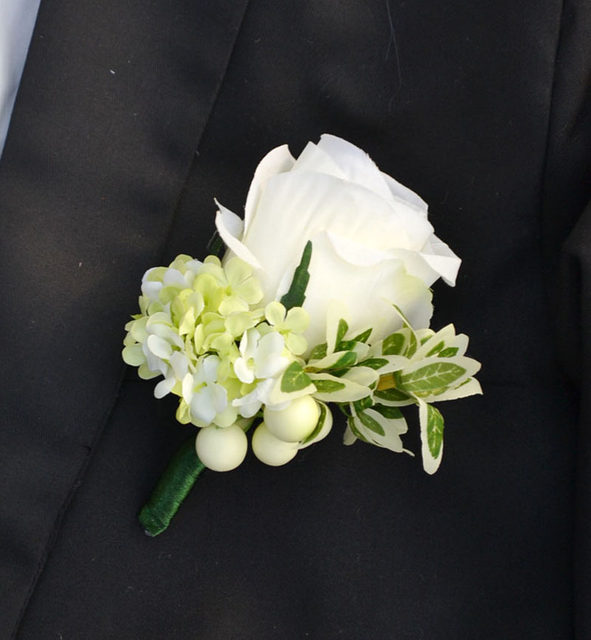Online shop handmade corsages groom boutonniere artificial flower handmade corsages groom boutonniere artificial flower buttonhole white green silk rose corsage wedding supplies man suit brooch mightylinksfo