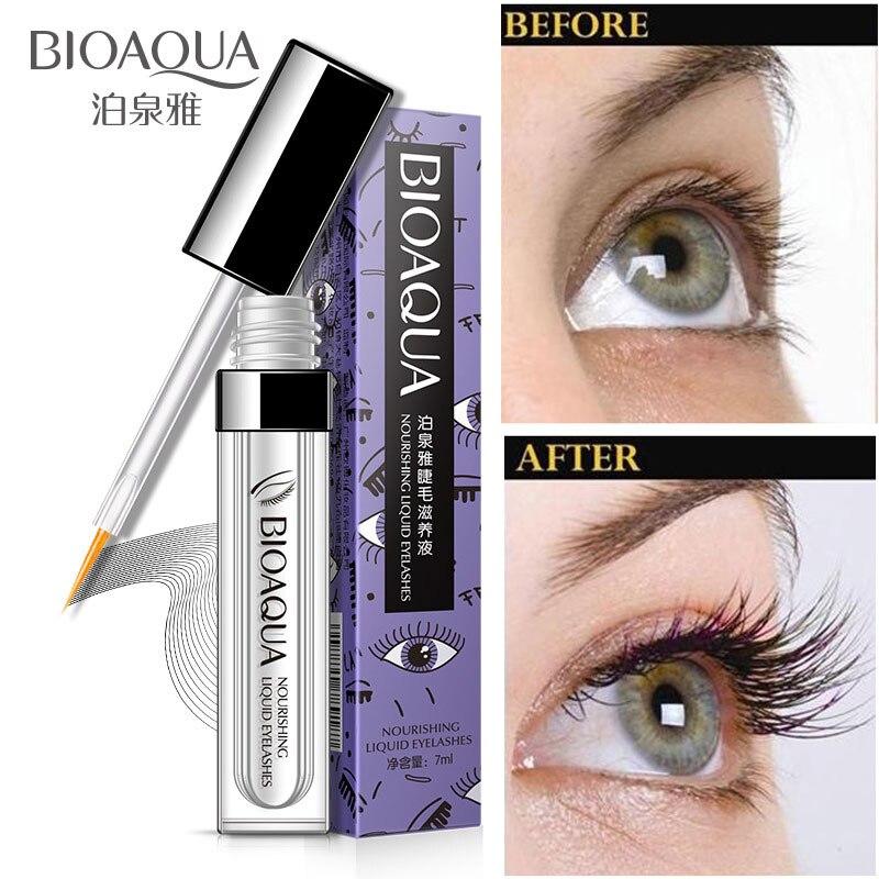 BIOAQUA Eyelash Nourishing Fluid Growth Treatments Liquid Eye lash Serum Enhancer Moisturizing Build Thicker Longer Curller bioaqua exfoliante para pies
