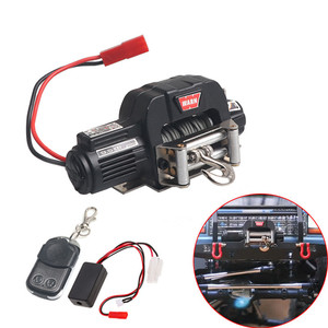 Automatic Winch and Wireless Remote Controller Receiver for 1/10 RC Crawler Car Axial SCX10 TRAXXAS TRX4 D90 TF2 Tamiya CC01(China)