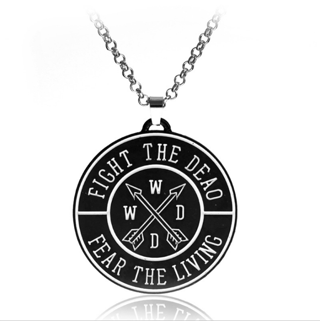 10pcslot The Walking Dead Inspired Initial Necklace Waking Dead