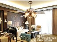 Ретро вентилятор потолочный светильник с контроллером минимализм современная спальня столовая гостиной Потолочные вентилятор светодио д