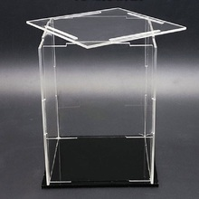 Transparent Acrylic Display Case/Box cube Perspex Dust-proof protection ShowCase For Golf Tennis models Action Figure board game недорого