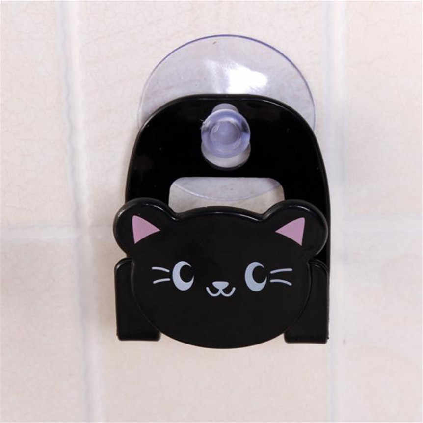 Karton danie pojemnik na ścierki, gąbki z przyssawką uroczy niedźwiadek animowany ścienne typ montowany do kąpieli pudełko do przechowywania wystrój domu jadalnia
