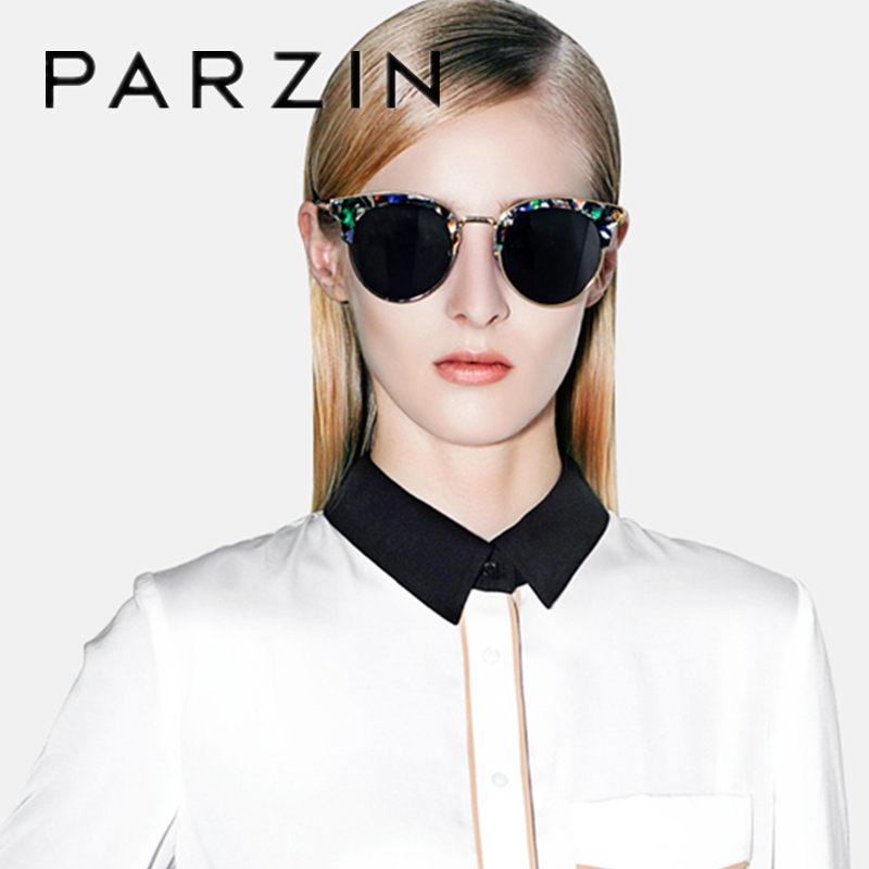 PARZIN Polarisierte Vintage Sonnenbrille Frauen Übergroßen Weiblichen Sonnenbrille Damen Fahren Anti Glare Gläser Zubehör 9652 - 5