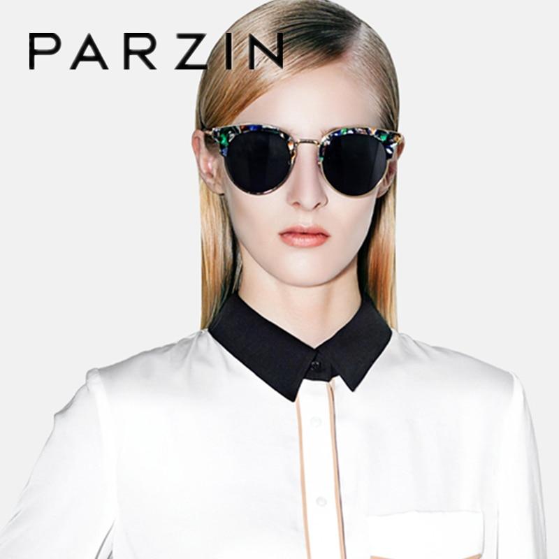 Parzin Occhiali da Sole Polarizzati Occhiali da Sole Vintage Delle Donne Femmina di Grandi Dimensioni Occhiali da Sole Delle Signore di Guida Anti Riflesso Occhiali Occhiali Accessori 9652 - 5