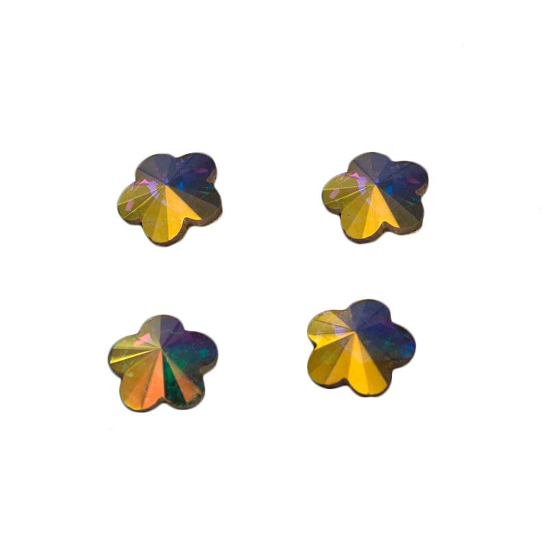 YANRUO 72pcs 6mm # 252560 Crystal AB 3D Plum blossom Nail art - Arte de uñas - foto 1