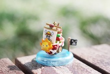 Thousand Sunny Merry Nissan No. Pirate Ship 5-7cm One Piece Model PVC Action Figure Boat Toy Christmas Gifts Cars Decorations