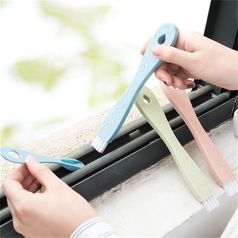 Image 2 - 1 Set Window Cleaning Dead Corner Groove Brush Window Sill Gap Cleaning Combination Small Brush Kitchen Bathroom Broom Tool-in Cleaning Brushes from Home & Garden