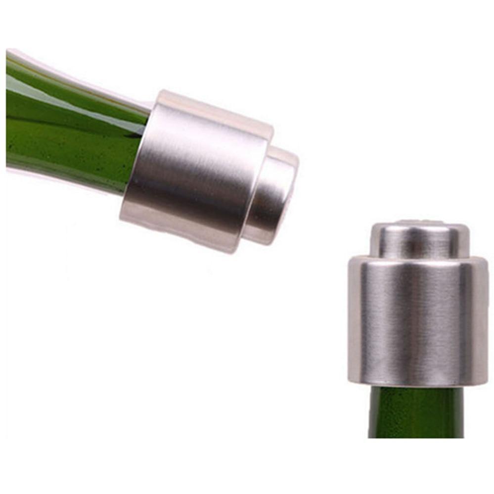 1 Pcs Rvs Wijnfles Stop Vacuüm Sealer Bar Gereedschap Draagbare Vergrendelingen Champagne Mousserende Wijn Flessenstop D5