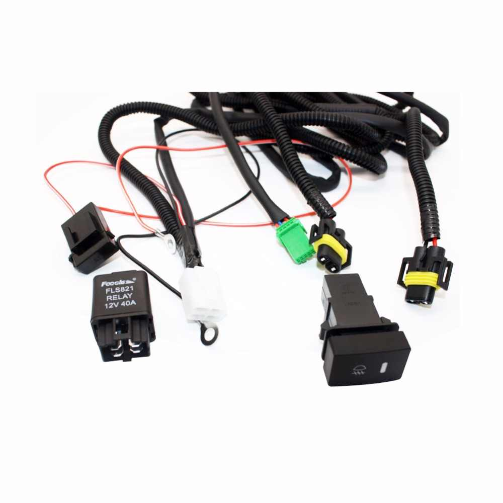 hight resolution of  set wiring harness sockets wire switch for h11 fog light lamp for ford focus 2008